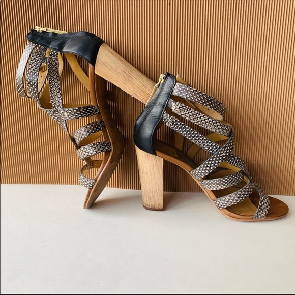 8408a8b6b00 Dolce Vita Shoes - ANTHRO DOLCE VITA NOLIN snakeskin wood heel 7.5